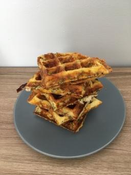 Zucchini & Corn Waffles